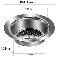 4pcs Stainless Steel Kitchen Sink Strainer with Protection of Small Trash Drain Strainer Basket Filter Screen