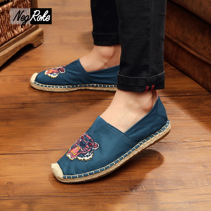 ФОТО Chinese Casual linen Kung fu shoes men embroidery oxford shoes for men fashion male flats human race led shoes espadrilles homme