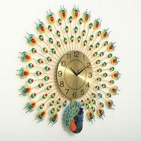 Large 3D Peacock Wall Clock Home Decoration Digital Wall Watch Living Room/Bedroom Mute Clock Wall Modern Design Clocks 3 Style