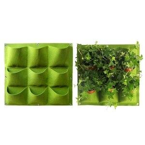 Image 2 - אנכי גן המטע, קיר שקיות השתילה קולבי חיצוני מקורה ירקות פרחים מיכל גדל סירים (9 כיס