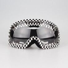 — Дорога ATV мотоцикл очки очки мотоциклетных шлемов очки черный и белый решетчатая конструкция прозрачные линзы