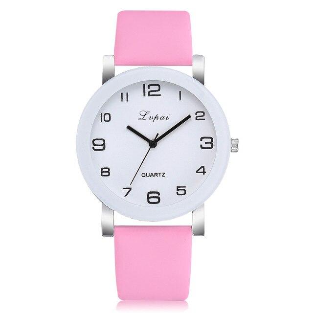 Simple Style Watches Men Women Leather Strap Quartz-watch Fashion Black White Wristwatches Quartz Watch Gifts zegarek damski 5FN