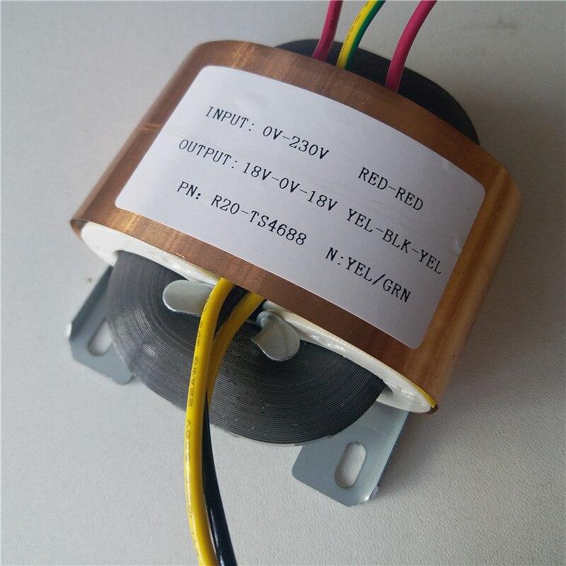 18V-0-18V 0.83A Transformateur R Core R20 30VA personnalisé transformateur 230 v entrée cuivre bouclier pour pré-amplificateur alimentation