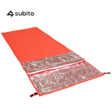 SUBITO Single Person Sleeping Bag Outdoor Camping Envelope Style Thermal Reflection WarmSleeping Bags Emergency Survival Blanket