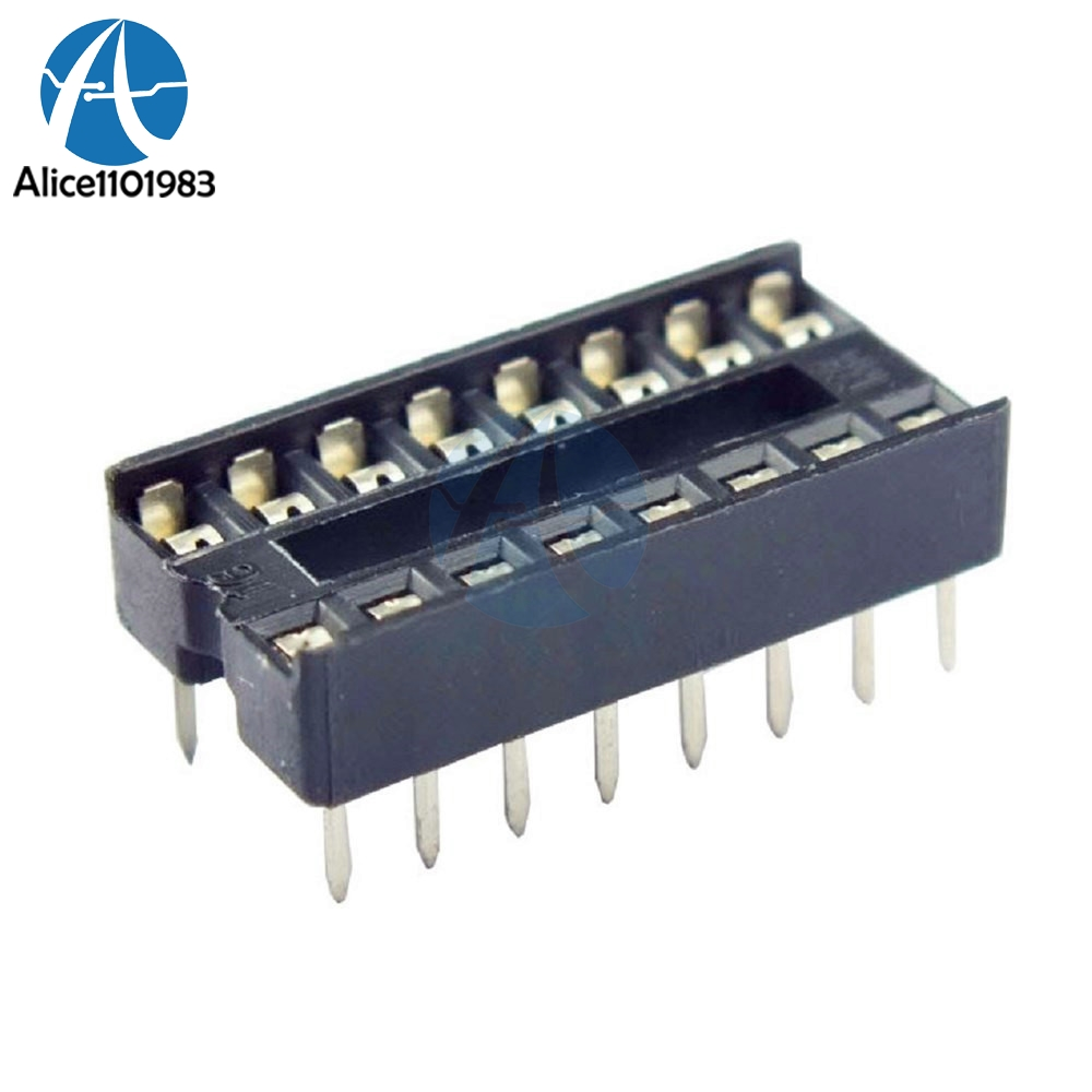 10PCS 16-Pins 16 Pins 16P DIP IC Sockets Adaptor Solder Type Socket 100% Original DIY High Quality