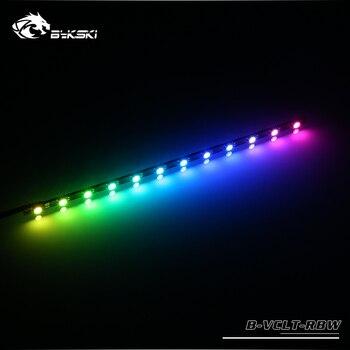 Bykski tira conduzida uso para cpu gpu bloco/12 v 4pin rgb tira/5 v 3pin A RGB luz/suporte para sincronização aura em m/b|Ventiladores e resfriadores|   -