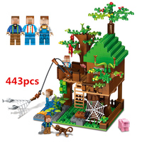 443pcs Minecraft Toy Building Blocks Bricks My World Accembly Model With Minecrafted Weapons Action Figures Toys For Children #E