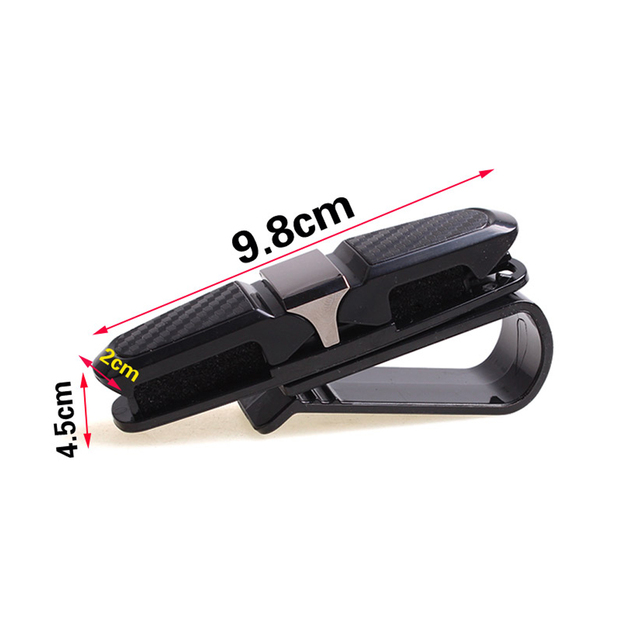 Dewtreetali 2018 New Arrival Portable Fastener Cip Eyeglasses Clip Ticket Card Clamp ABS Car Glasses Cases Black Car Sun Visor
