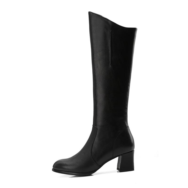 Invierno Black Delgados Tacones Del De brown Dedo Moda 39 Enmayer Hasta La Zyl920 Zapatos Rodilla Pie Tamaño Mujeres Mujer 34 2018 Redondo Botas qf1HOCw