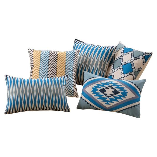 Decorative throw pillows case Northern Europe Zebra Cushion Cover Geometric Clover Cotton linen housse de coussin 45x45cm