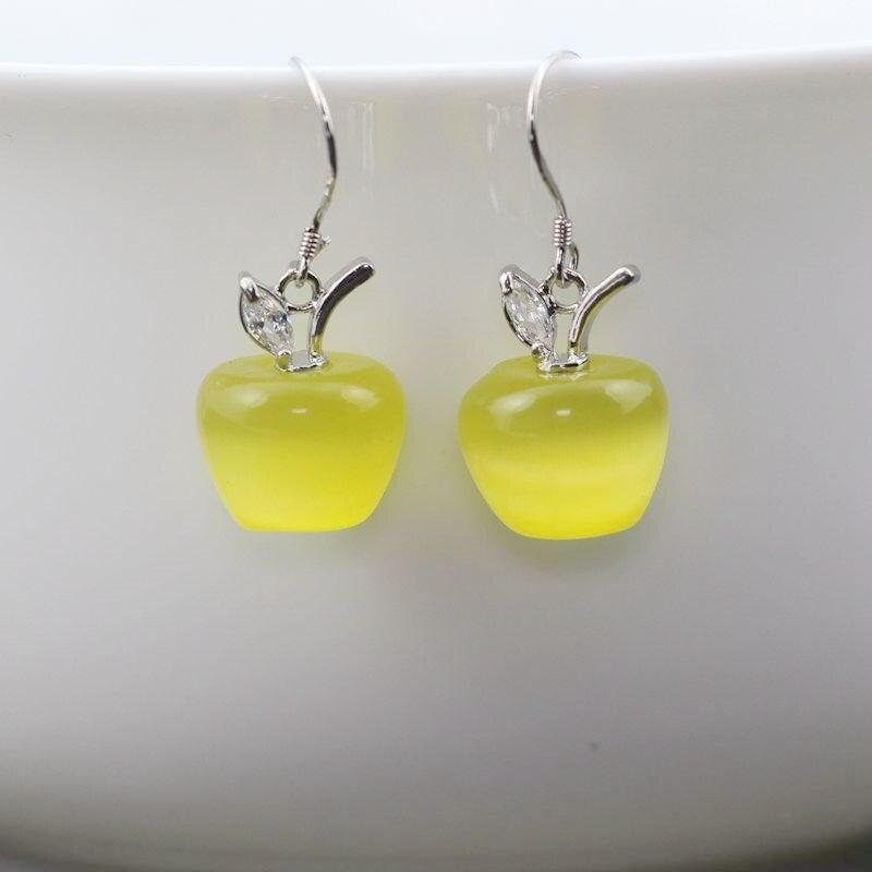 YL007 yellow earring