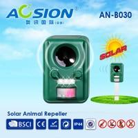 Garden Solar Electronic With Flashing Ultrasonic Animal Repeller Birds Dogs Cats Fox Deer Repeller Repellent Deterrent