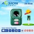 Ultrasonic animal repeller Solar Eletrônico com piscando Aves Assustar Cães Gatos Raposa Veado Repelente Impedimento