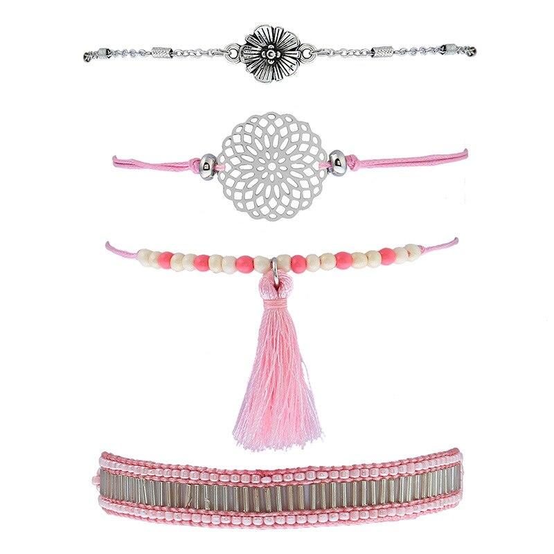 achetez en gros rose ruban bracelet en ligne à des grossistes rose