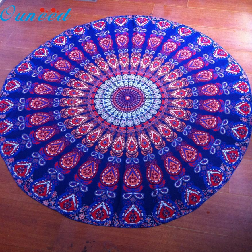 JA 11 Mosunx Business Hot Selling Fast Shipping Round Beach Pool Home Shower Towel Blanket Table Cloth Yoga Mat