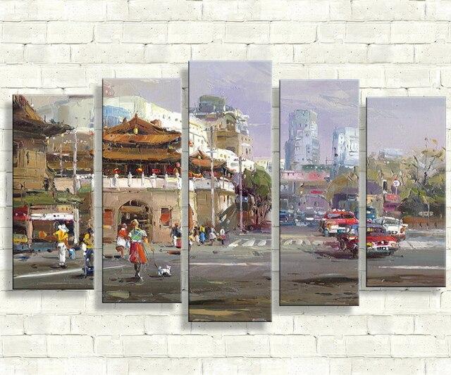 Retro Art Woonkamer : Stuk canvas art foto pictures drieluik retro poster