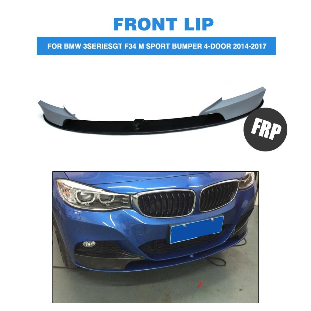 FRP Front Bumper Lip Spoiler Splitters Apron for BMW 3Series GT F34 M Sport Bumper 4 Door 2014 2017 Car Styling