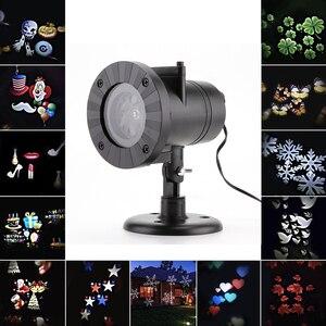 Image 5 - 12 패턴 크리스마스 레이저 프로젝터 눈송이 led 무대 dj 디스코 빛 파티 조명 장식 홈 실내 야외 정원