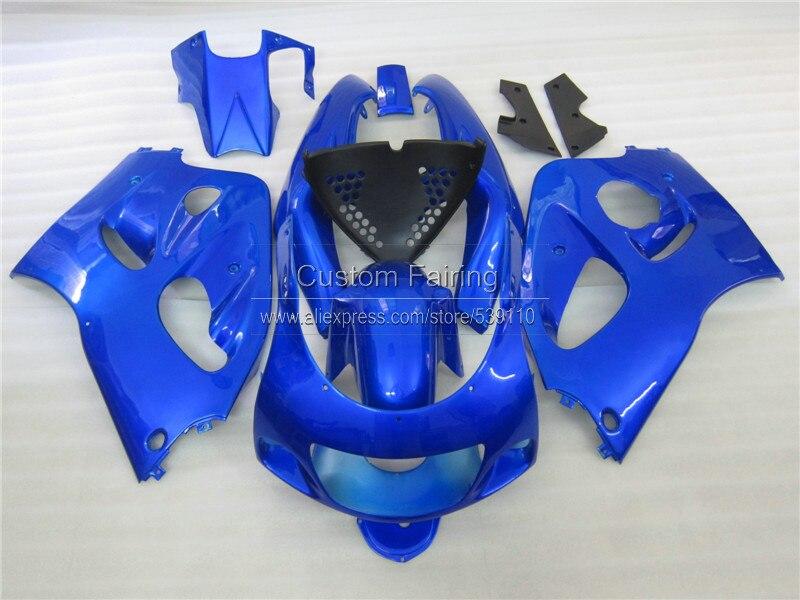 Мотоцикл обтекатель комплект для SUZUKI gsx r 600 750 1996 1997 1998 1999 2000 Черный Синий GSXR600/750 96 99 00 ABS обтекатели комплект ZE88