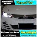 AUTO. PRO Para Honda Civic led faros de xenón para Honda Civic instalación 2006-2011 car styling guía LED DRL + bi xenon H7 Kit OCULTADO + Q5 lente