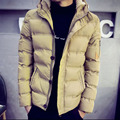 2016 Winter New Arrival Men's Fashion Down Jacket Short Design Slim Thickening Cotton-Padded Jacket with a hood