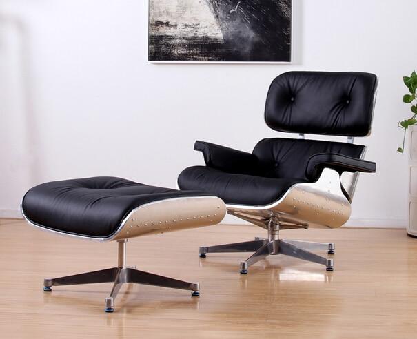 Mav muebles, diseño moderno sillón y escabel con aluminio chapa ...