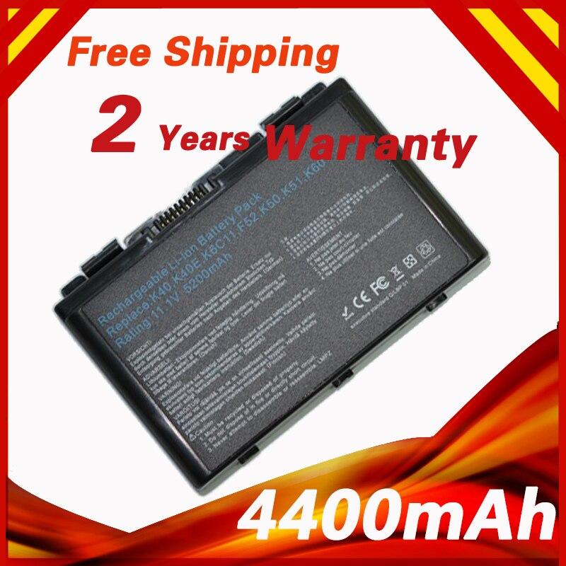 Batteria del computer portatile per Asus K61 K70 X8A A41 F82 F52 A32-F82 A32-F52 L0690L6 L0A2016 K40 K40E K40N K40lN K50 K51 K60 P81 X5A X5E X70
