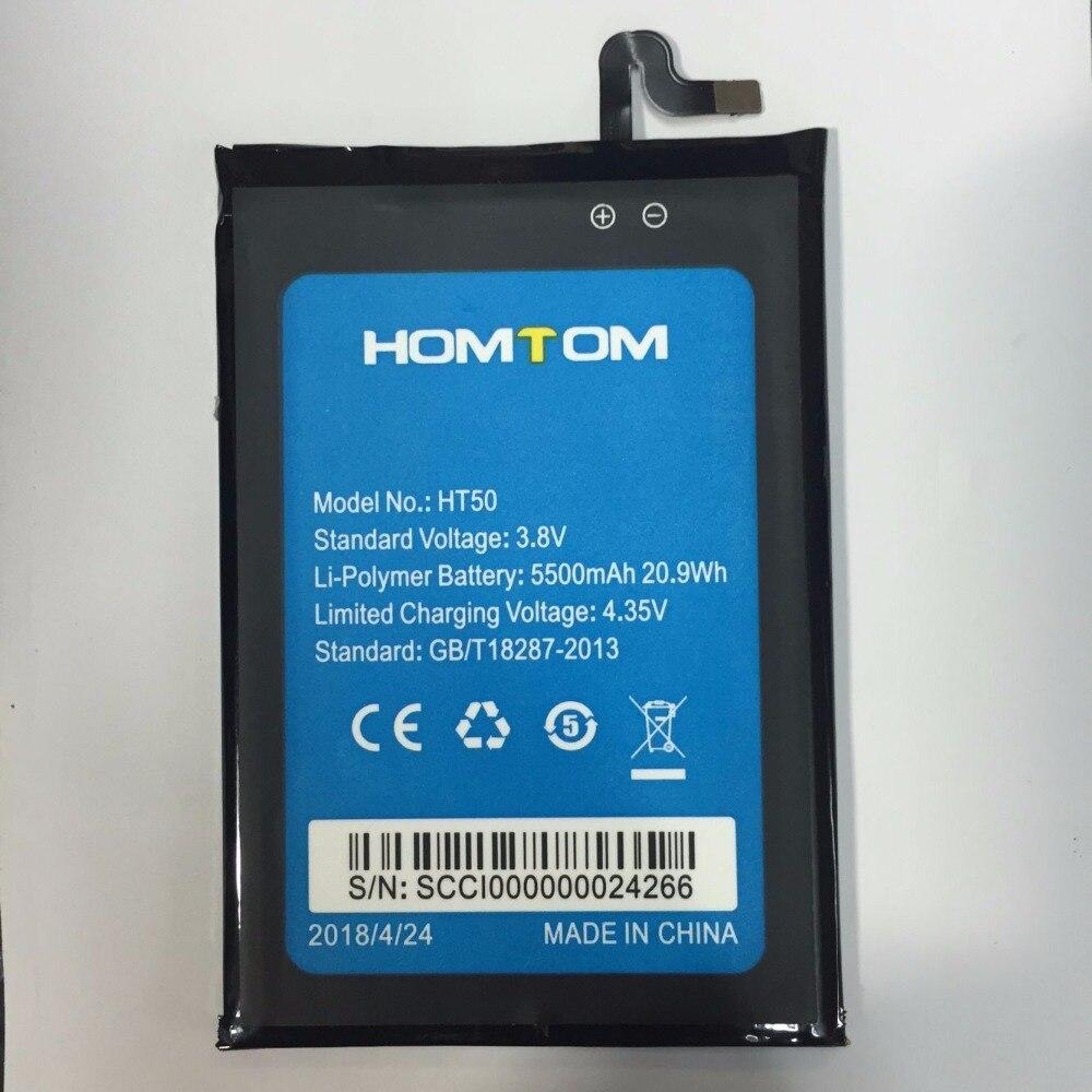 MATCHEASY New Homtom ht50 Battery for 5.5inch Homtom ht50 Mobile Phone Battery 5500mAh(China)