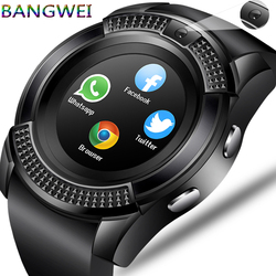BANGWEI Men Women Smart Watch WristWatch Support With Camera Bluetooth SIM TF Card Smartwatch For Android Phone Couple Watch
