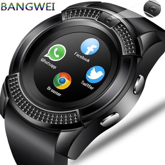 LIGE Homens Mulheres relógio de Pulso Relógio Inteligente Suporte Com Câmera Bluetooth Tf SIM Smartwatch Para Android Telefone Do Relógio Casal + caixa