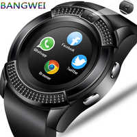 LIGE mężczyźni kobiety smart watch zegarek na rękę wsparcie z kamerą Bluetooth karty SIM TF smartwatch dla Androida telefon zegarek dla pary + pudełko