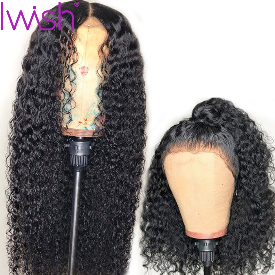 13x4 Brazilian Deep Wave Wig Lace Front Human Hair Wigs For Black Women 130 150 180
