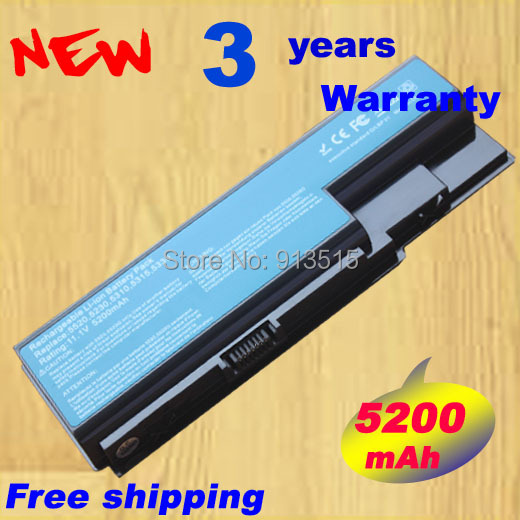 Laptop battery for Acer Aspire 5520 5720 5920 6920 6920G 7520 7720 7720G 7720Z AS07B31 AS07B41