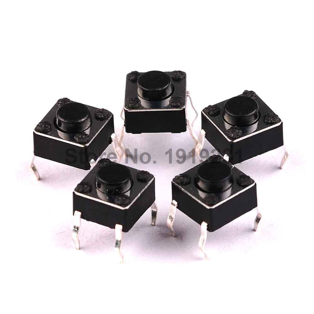 40PCS 6X6X4.3mm Tactile Push Button Switch Momentary Tact dip 6*6*4.3mm