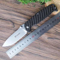 58-60HRC Ganzo G7412 440C G10 or Carbon Fiber Handle Folding knife Survival Camping tool Pocket Knife tactical edc outdoor tool
