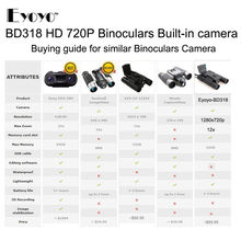 HD 720P 12X32 Zoom Digital Binoculars Telescope Video Camera