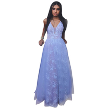 Bbonlinedress V-Neck Prom Dress 2019 New Arrival A Line Gowns Lace Evening Dresses Formal Party
