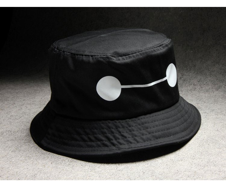 aeaf2e05203 High Quality Big Hero bucket hats hip hop Baymax white black fishing hat  cotton summer sun hat 3C383-in Bucket Hats from Apparel Accessories on ...