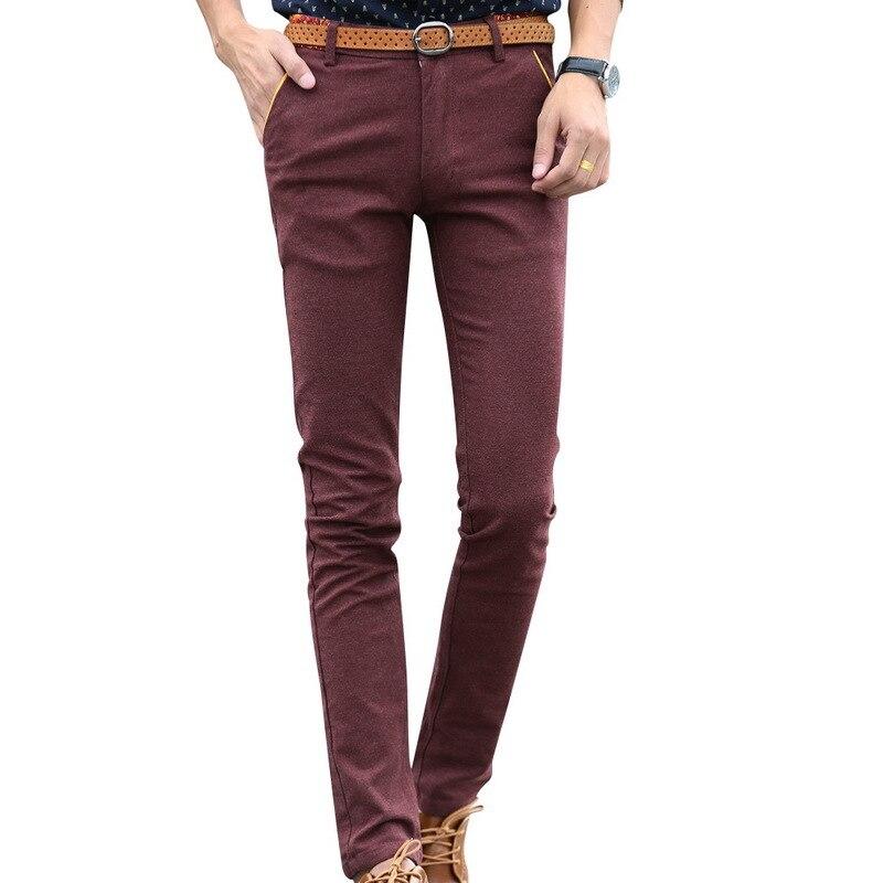 Pantalones casuales para hombre de Color sólido Calca