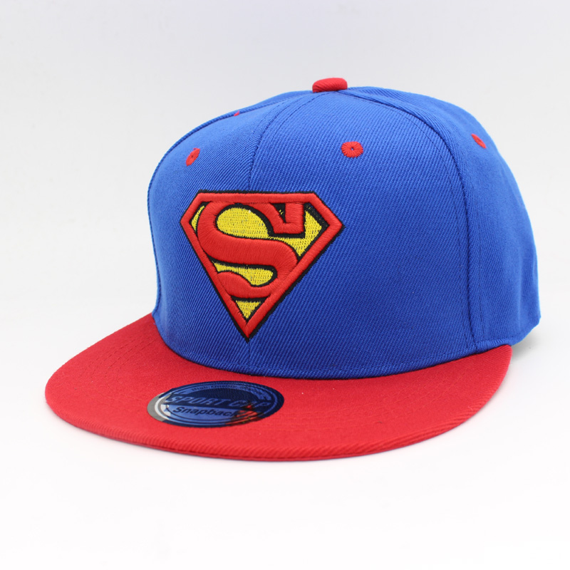 New Fashion Snap Back Snapback Caps Hat Super Man Adjustable Gorras Hip Hop Casual Baseball Cap Hats for Men Women HT51085+15 2016 new kids minions baseball cap fashion adjustable children snapback caps gorras boys girls gorras planas hip hop hat 2202