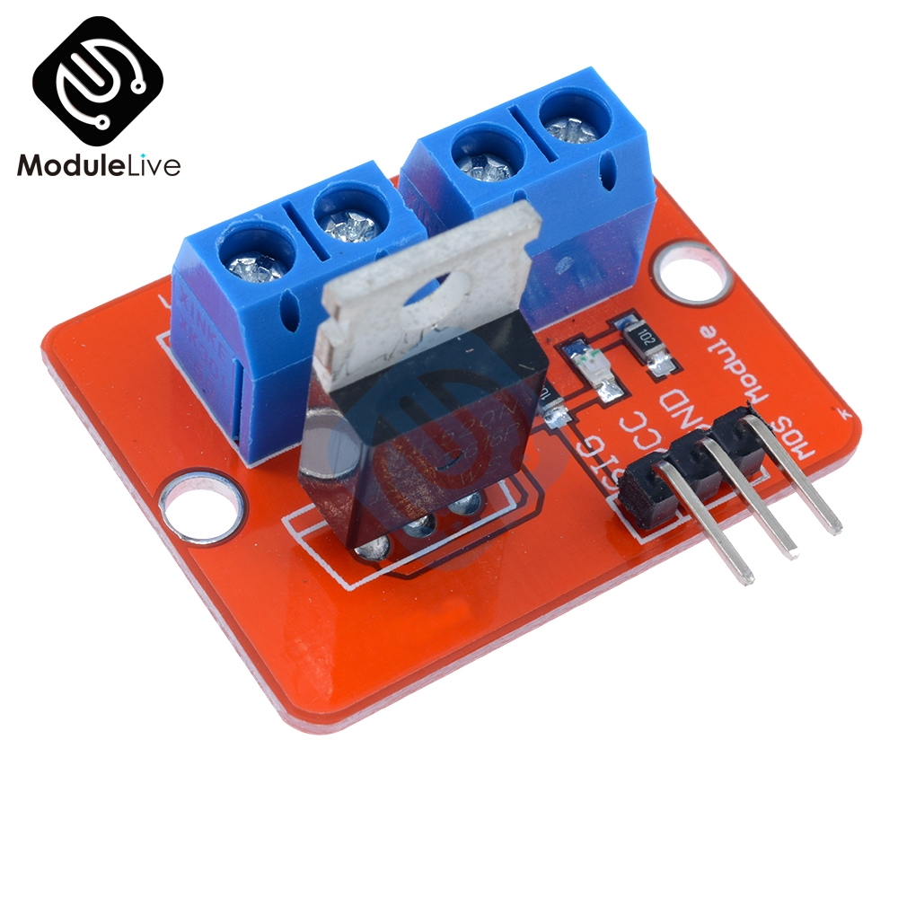 5pcs Top Mosfet Button IRF520 Mosfet Driver Module For Arduino MCU ARM For Raspberry Pi 3.3V-5V IRF520 Power MOS PWM Dimming LED