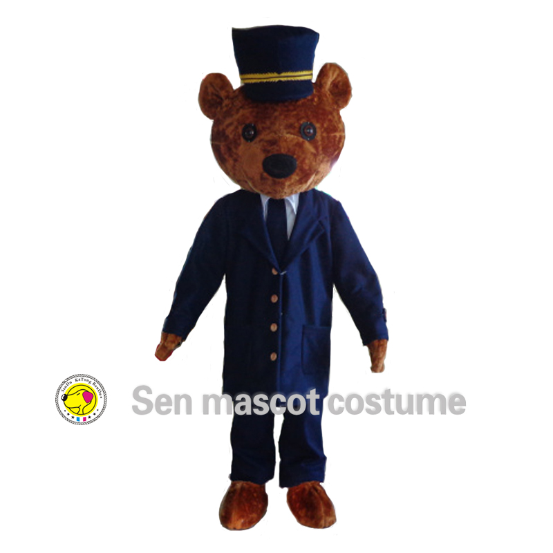 Free shipping ! High quality hairy teddy bear mascot costume to wear a suit of bear mascot