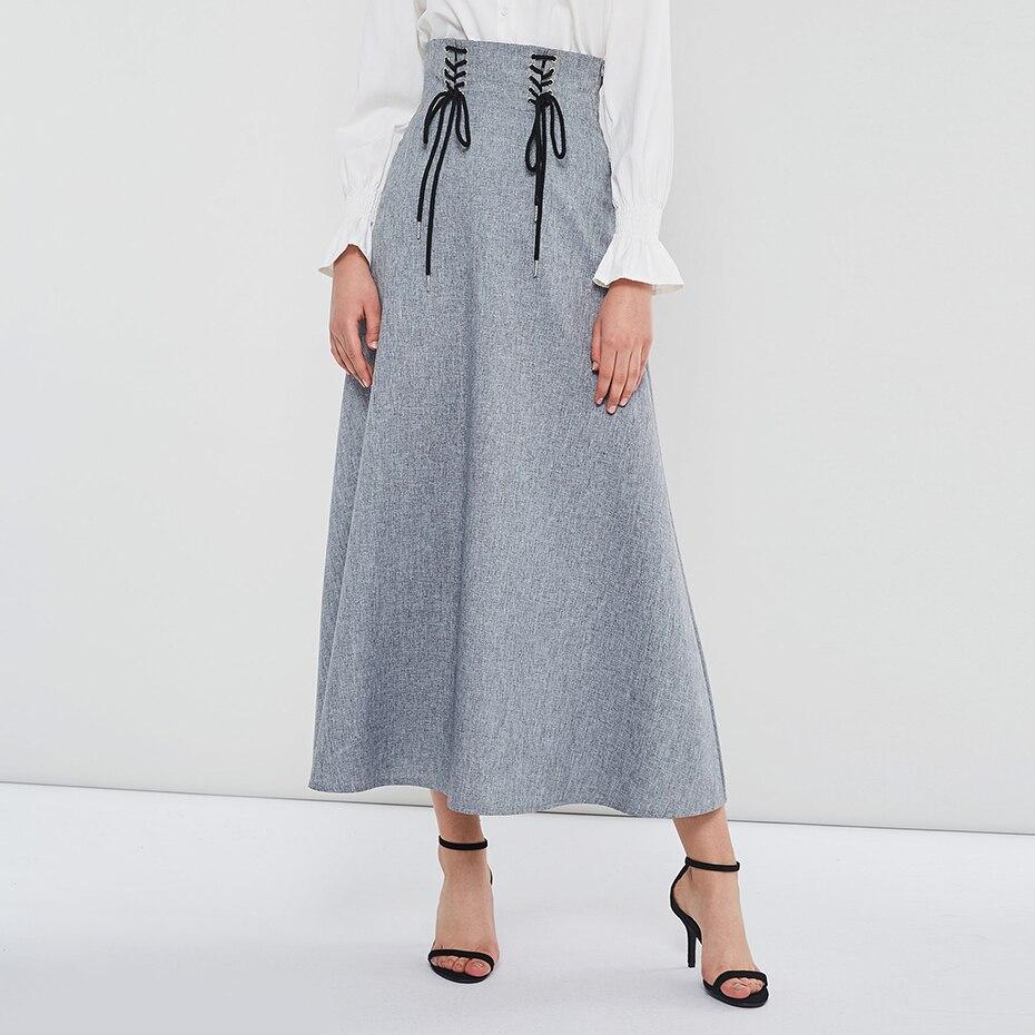 Long Denim Skirt Korean Fashion