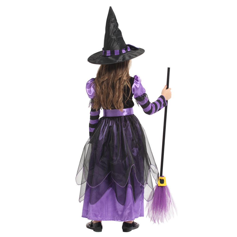 Little Naughty Violet Witch Costume Sorceress Costumes for Girls Girl Halloween Purim Party Carnival Cosplay Dress Up 4