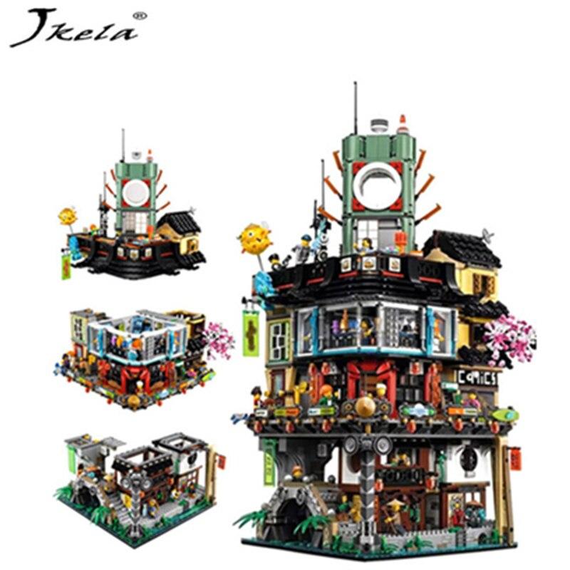 Compatible con LegoINGly NinjagoINGly de construcción de la ciudad de modelo de construcción Modular piedras adolescentes juguetes ladrillos 06066 Compatible 70620