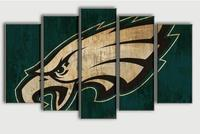 New Arrival Eagle Sports Team Logo Oil Painting On Canvas Modern Home Pictures Prints Liveing Room Deco