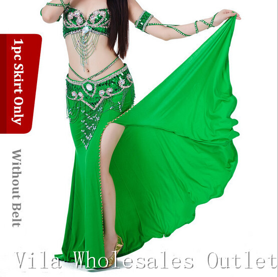 Belly Dance Skirt Dancing Costume Indian Dance Skirt Clothes Bellydance Skirt 1pc Skirt 10 Color 701#