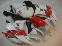 Motorcycle Fairing YZF600 R6 06 Fairing Kits YZFR6 06 2006 - 2007 Red White Fairing YZFR6 2007