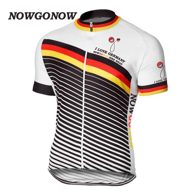 2017 cycling jersey Man bike clothing tops outdoor sport ride I love  germany falg short sleeve mountain hot road wear NOWGONOW a6b1e07e3