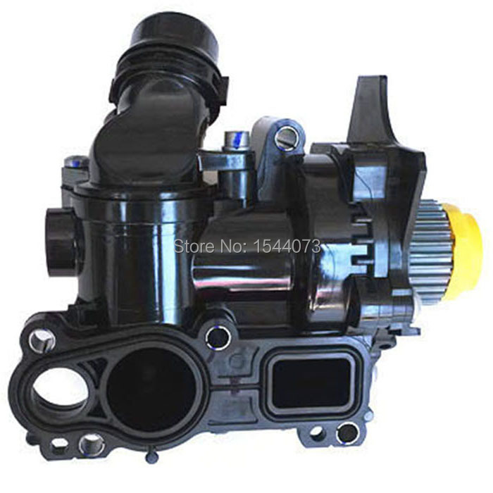 1.8T 2.0T Cooling System Circulating Water Pump Assembly For VW Jetta Golf Tiguan Passat CC A6 Octavia 06H 121 026 06H121026 water pump thermostat assembly fit vw golf jetta gti passat tiguan 1 8t 2 0t 06h121026ab 06h121026